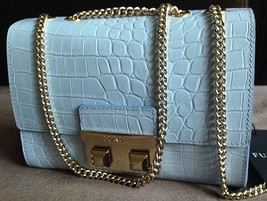 NEW Furla Bella Croc Embossed Crossbody Bag - $275.00