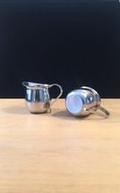 Set of 2 vintage Polar Ware stainless steel creamers/pitchers image 2