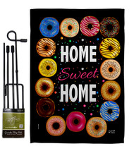 Home Sweet - Impressions Decorative Metal Garden Pole Flag Set GS137311-BO - $27.97
