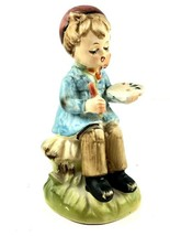 "Arnart 5th Ave Boy Painting 5"" Figurine 22/613 Hand Painted - $17.86"
