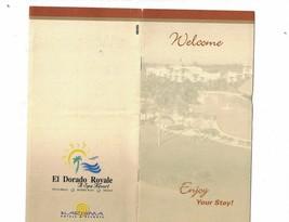 El  Dorado Royale Spa Resort 1990s Welcome Map Mexico - $9.58