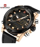 Luxury Brand Men Analog Digital Leather Sports Watches Men's Army Milita... - $42.62+
