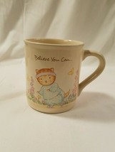 1987 Hallmark Cat Lovers Encouragement Coffee Mug Cup Exercise Diet Novelty - $21.99