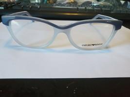 New Emporio Armani Ea 3015 5109 Blue Grey Eyeglasses Frame 51-17-140 Perfect - $58.41