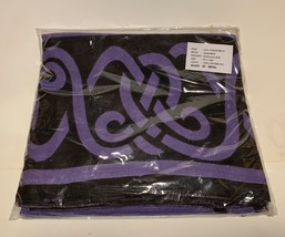 Purple Black Cotton Triquetra (Charmed) Symbol Bedspread - $28.95