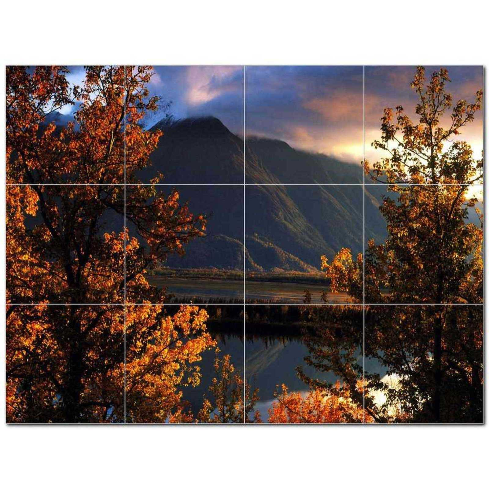 Primary image for Mountain Picture Ceramic Tile Mural Kitchen Backsplash Bathroom Shower BAZ405555