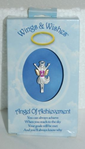 DM Merchandising Wings Wishes Achievement Angel Silver Colored Angel Pink Shirt