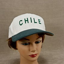 Chile Hat Embroidered Penguin Logo Natural Cap w/ Green Snap Back Strap - $14.95