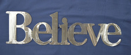 """Large Believe Inspirational Steel Home Decor Word Wall Art Sign 24"""" X 7"""" - $29.95+"""
