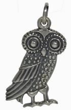 Owl Of Wisdom Silver Pendant - Goddess Athena - $34.99