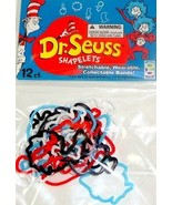 12 Dr. Seuss Party Favors Cat in the Hat Shapelets Silly Bandz Bracelets... - $47,07 MXN