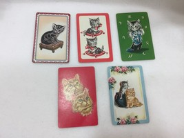 5 Single Swap Playing Cards Kittens Cats Kitties Kitty 24960 Vintage - $10.80