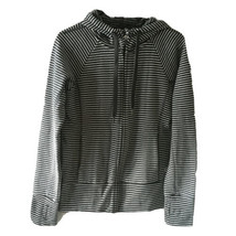 Gap Fit Womens Striped Zip Up Sweatshirt Size Medium - $21.78