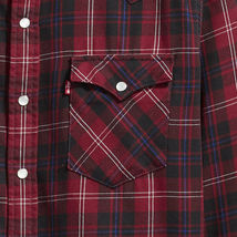 Levi's Men's Classic Western Pearl Snap Button Up Casual Plaid Dress Shirt image 3