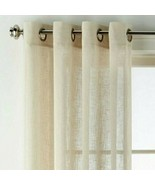 "JC Penney Bayview Grommet-Top Curtain Panel Pebble Beach     50"" x 84"" - $23.79"