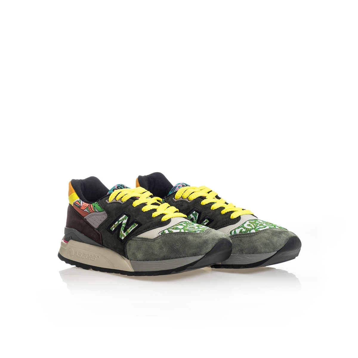 SNEAKERS UOMO NEW BALANCE LIFESTYLE 998 M998AWK MADE IN USA GREEN image 6