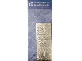 Magenta Self-Adhesive Metallic Stickers, Northern Stars #PE-028-A-C