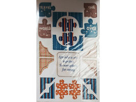 """DCWV """"Travel"""" Chipboard Sticker Stack, 75 Pieces #QS-01 2-00006 image 3"""