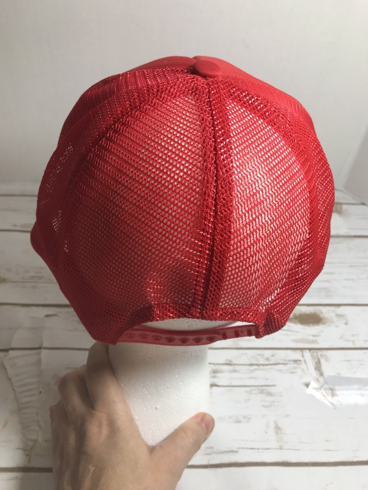 Vintage foam mesh snapback trucker hat cap abingdon wholesale plumbing electric