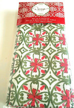 "Dena Home Napkins, set of 4,  19""x19"", Red and Green Holiday Christmas N... - $14.26"