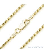 925 Sterling Silver 14k Yellow Gold 1.8mm Twist-Rope Link Italian Chain ... - $28.50+