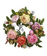 20'' Mixed Peony & Berry Wreath - $74.59