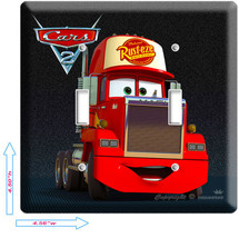 Disney's Cars 2 Mack The Truck Double Light Switch Wall Plate Cover Boys Bedroom - $11.99