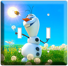 Disney Frozen Olaf Snowman Dreaming Of Summer Double Light Switch Plate Bedroom - $10.79