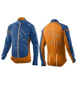2XU Men's Wind Break 180 Cycle Jacket, Cerulean Blue/Tangerine, Medium - $75.51