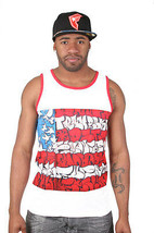 Famous Stars and Straps Slick Flagge Sub Tank Weiß