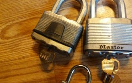 3 Padlocks with keys - Mixed Lot - FREE SHIP image 2