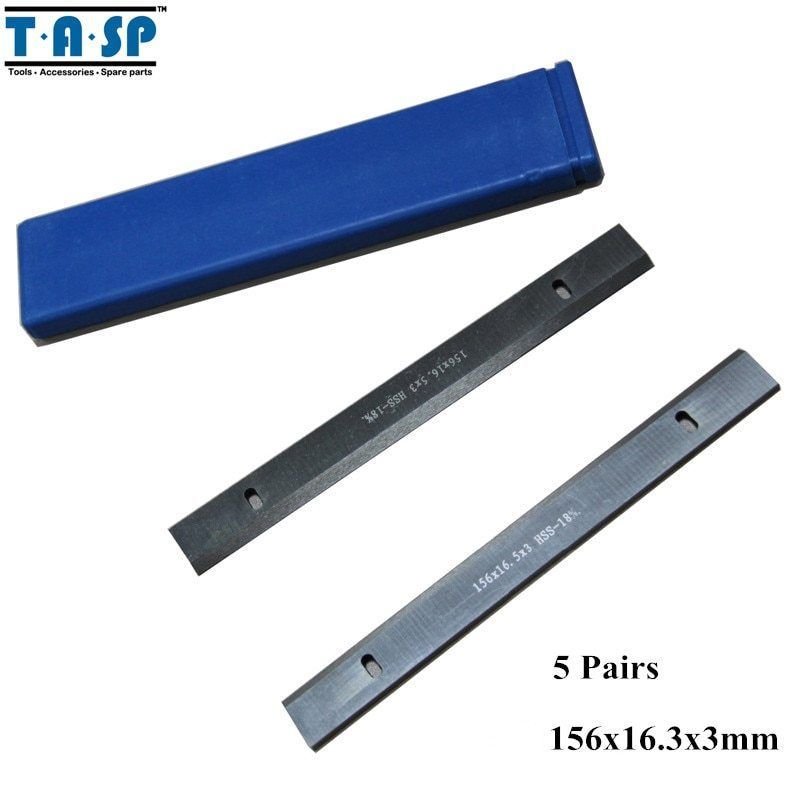 "Primary image for TASP® 5 Pair 6"" HSS Thickness Planer Blades 156x16.3x3mm Woodworking Power"