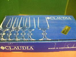 Vintage Claudia Champagne flute 6 piece set Stemware NIB - $36.47