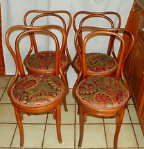 Set of 4 Bent Maple Dinette Chairs / Sidechairs by Heywood Wakefield - $599.00