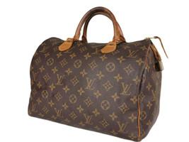 LOUIS VUITTON Speedy 30 Monogram Canvas Leather Hand Bag LH3724 - $449.00