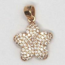 Anhänger Gold Pink 750 18K, Blume mit Zirkonia, Seestern image 2