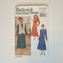 Butterick 3109 Sewing Pattern Fast & Easy Misses Vest Dress 12 14 16   - $8.90