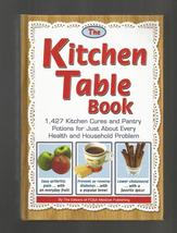 Kitchen Table Book, Kitchen Cures, Health & Household Problem Solver, 2009 - $8.00