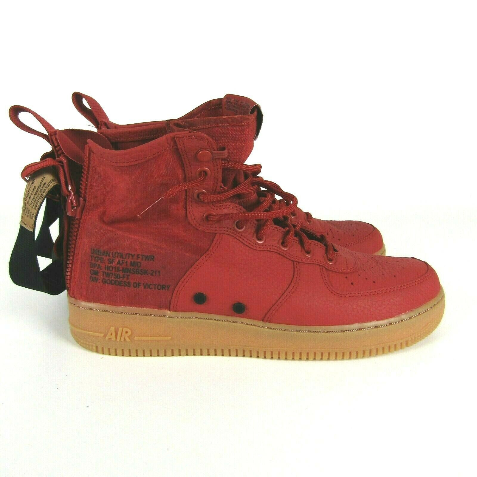 Nike SF AF1 Mid Dune Red Black Shoes Size 11 Men 917753 600 Air Force 1 Sneakers