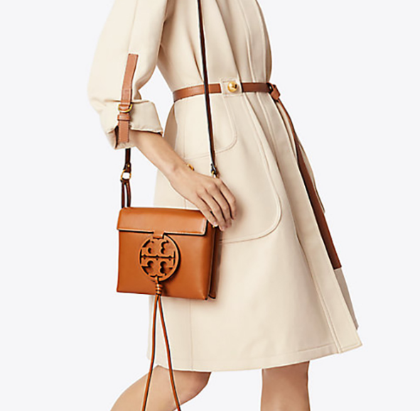 Tory Burch Fleming Convertible Chain Large Shoulder Bag - Brown image 2
