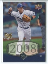 EVAN LONGORIA RC 2008 Upper Deck Timeline #303 Tampa Bay Rays Baseball Card - $2.99
