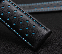 Replacment Leather Watch Strap Band BLUE Made For Tag Heuer Monaco - $32.71