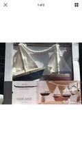 Threshold 5-ft GARLAND Wooden Sail Boats Decorative Wall Beach Nautical ... - $17.99
