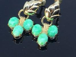 Vintage Amco  Jade 1/20th-12Karat Gold Filled Dangle Earrings - $29.70