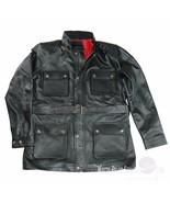 Neuf Veste Cuir pour Hommes Noir Moto Panther Benjamin Homme Ceinture Br... - $193.46+