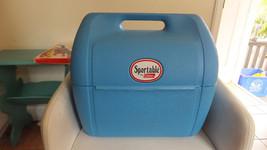 "Coleman ""Sportable"" Vintage Cooler blue, Double Handle Opening RARE! - $30.61"