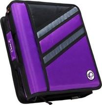 Case-it Zipper Binder 'The Z' Double 1 1/2 D Ring Binder Strap Handle Pu... - $25.88