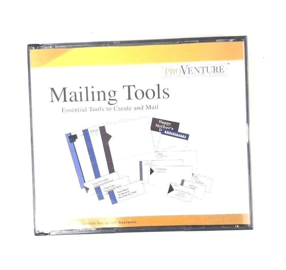 Pro Venture Mailing Tools Windows 95/98 CD-Rom Small Business Professional Tools