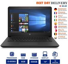 HP 14-BP061SA 14-Inch Laptop Intel i3 2Ghz 8GB RAM 500GB HDD Windows 10 ... - $348.30