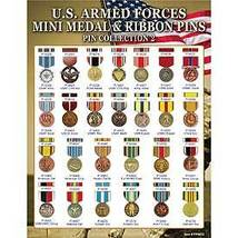 US  Armed Forces Mini Medal & Ribbon Pin Collection - $149.99